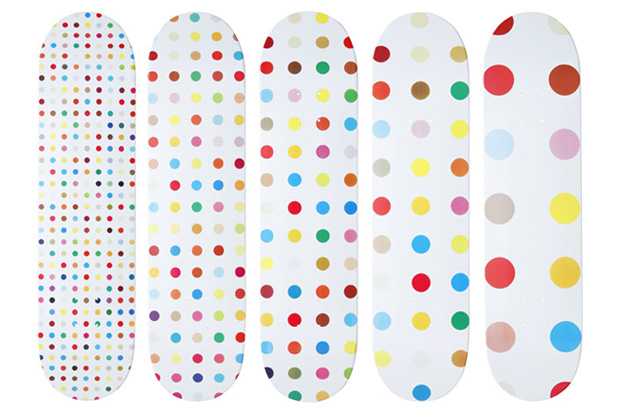 Damien Hirst for Supreme Skate Decks & Box Logo Tee