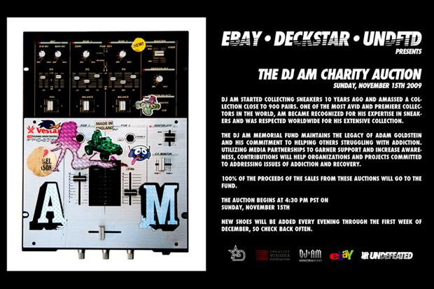 eBay x Deckstar x Undefeated Presents The DJ AM Charity Auction