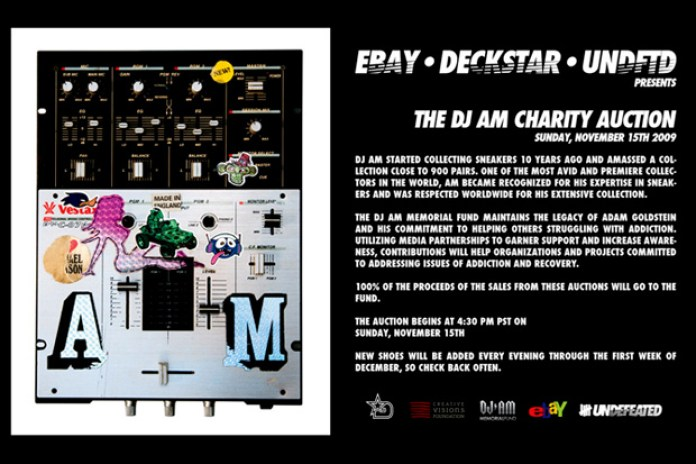 eBay x Deckstar x Undefeated Presents The DJ AM Charity Auction