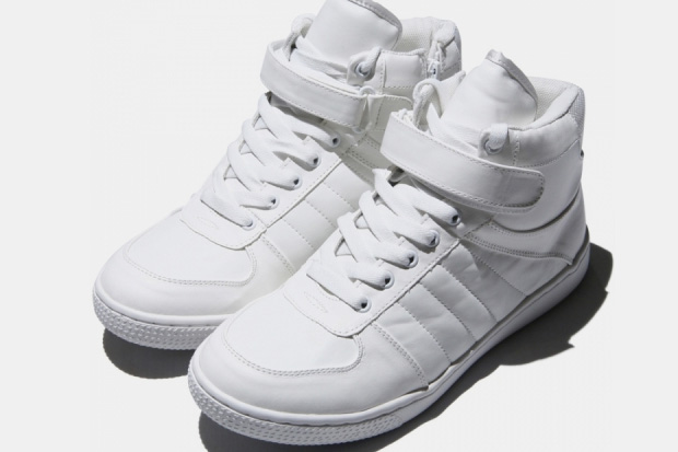 Hare White Hi Top Sneakers