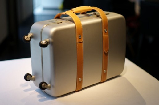 Hermes Aluminum Leather Suitcase