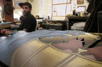 """Jeremy Fish """"Weathering the Storm"""" Exhibition Studio Preview"""