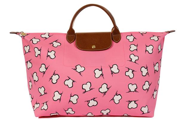 Jeremy Scott for Longchamp Bone Print Bag