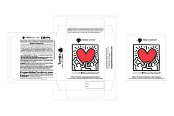 Keith Haring for PROPER ATTIRE Condoms