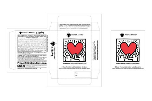 Keith Haring for PROPER ATTIRE Condoms