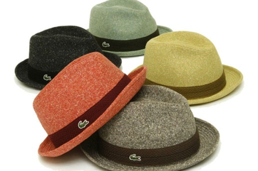Lacoste Wool Mannish Hat Collection