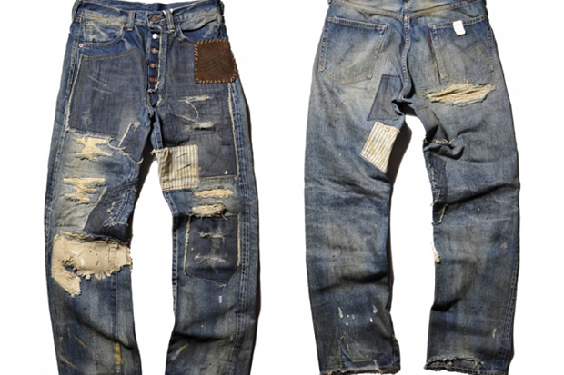 Levi's Vintage Clothing Patchwork Denim