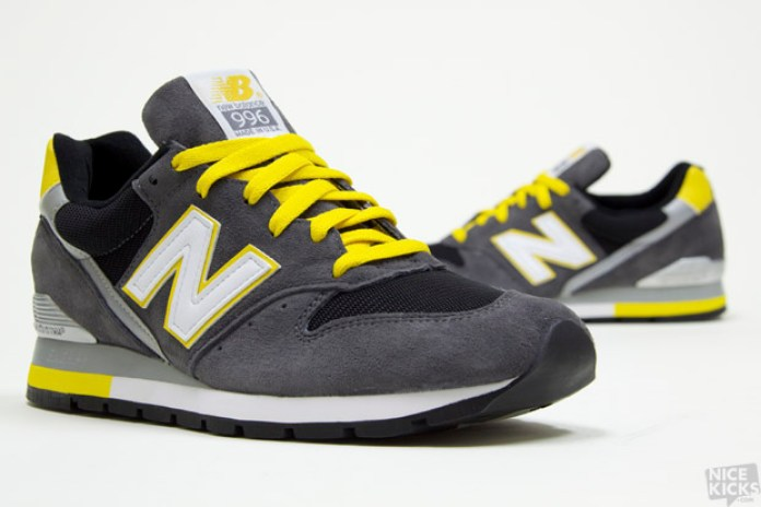 New Balance 996 Grey/Black/Yellow