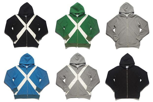 "OriginalFake ""X"" Zip-Down Hoodies"