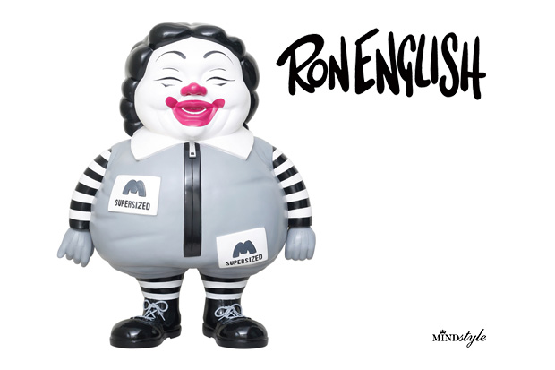 Ron English x MINDstyle McSupersized Me 3 Ft Monochrome Figure