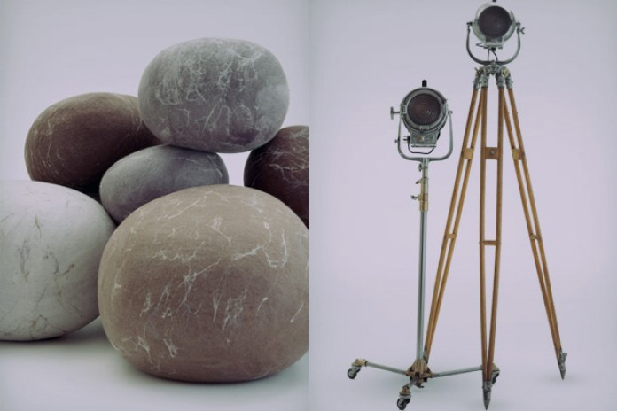 Ronel Jordaan Rock Cushions and Vintage Lamps