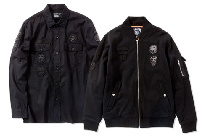 Stussy Scout Flight Jacket and Shirt