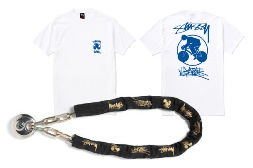 W-BASE x Stussy Tee and Chain Lock