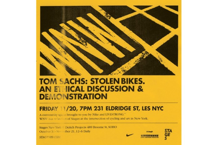 Tom Sachs: Stolen Bikes. An Ethical Discussion & Demonstration