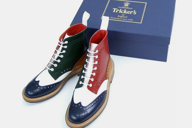 Tricker's Multi-Color Brogue Boots