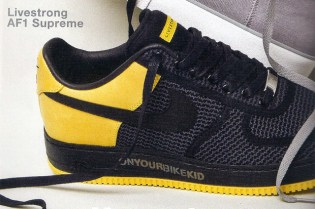Undefeated x LIVESTRONG x Nike Air Force 1 Low Supreme Preview