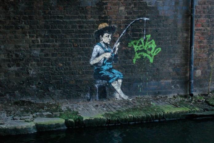 Banksy Regent's Canal Artwork