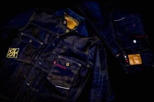 CLOT x Levi's Copper 505 Denim & Gold Jacket