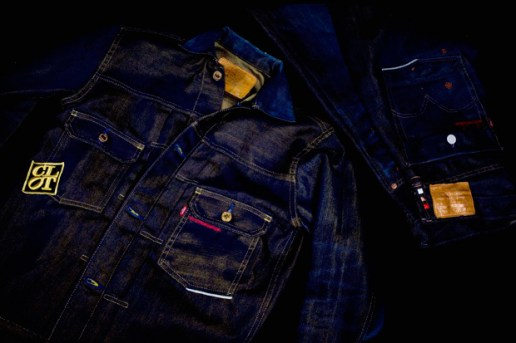 CLOT x Levi's Copper 505 Denim & Gold Jacket