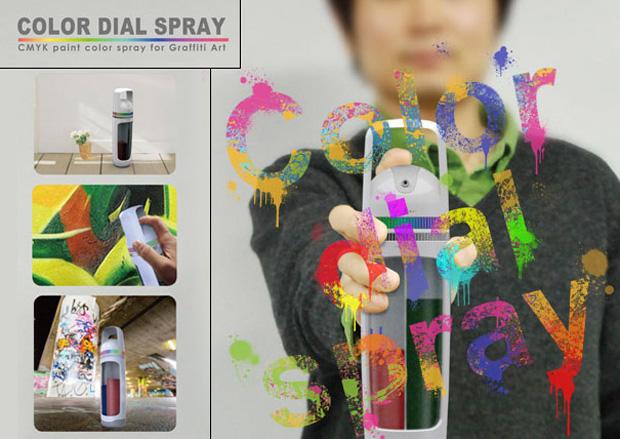 Refillable Color Dial Spray Can