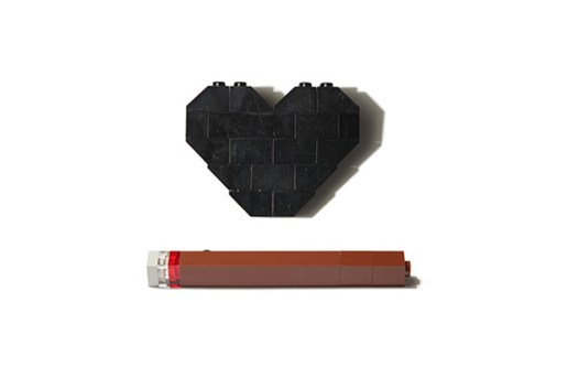"Dee & Ricky ""Blunt & Heart"" Brooches"
