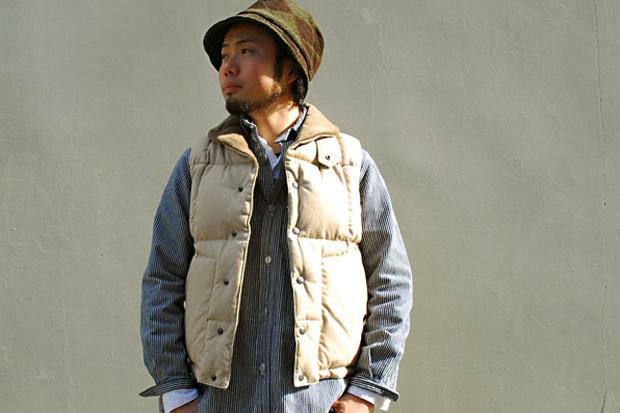 Engineered Garments Shawl Collar Down Vest