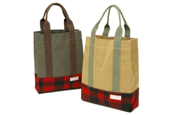 Filson Buffalo Plaid Twill Tote Bag