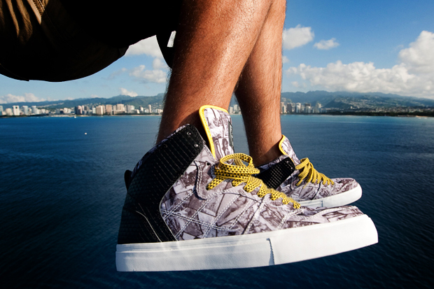 """Fitted Hawaii x Element Skateboards """"Kaholo"""" Sneakers"""