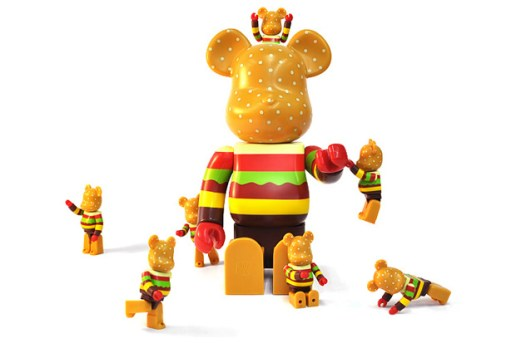 "GETTRY x MEDICOM TOY BEARBRICK ""Burger"" 100% / 400%"