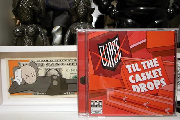 """KAWS x Clipse """"Till The Casket Drops"""" Album Cover"""