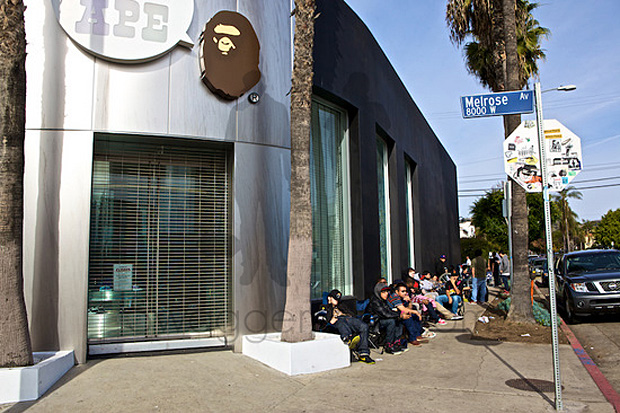 Kid Cudi x A Bathing Ape Baby Milo Los Angeles T-shirt Release Recap