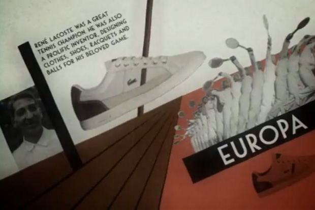 Lacoste Vintage Tennis Video