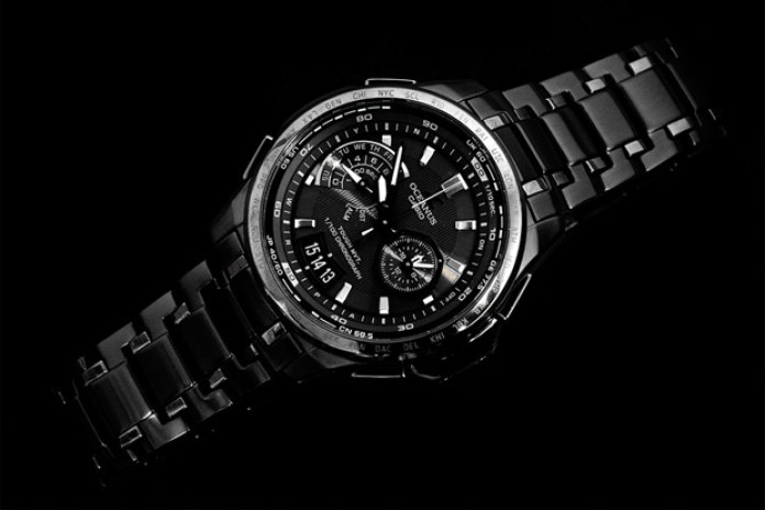 nano・universe x CASIO OCEANUS coNceNtrate black Watch