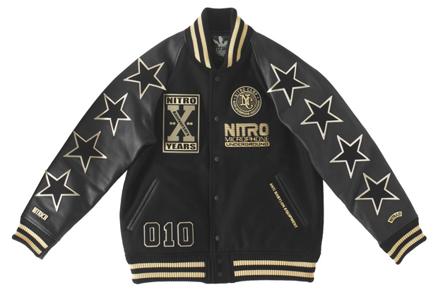 Nitro Microphone Underground x nitraid 10th Anniversary Collection Varsity Jacket / New Era 59FIFTY