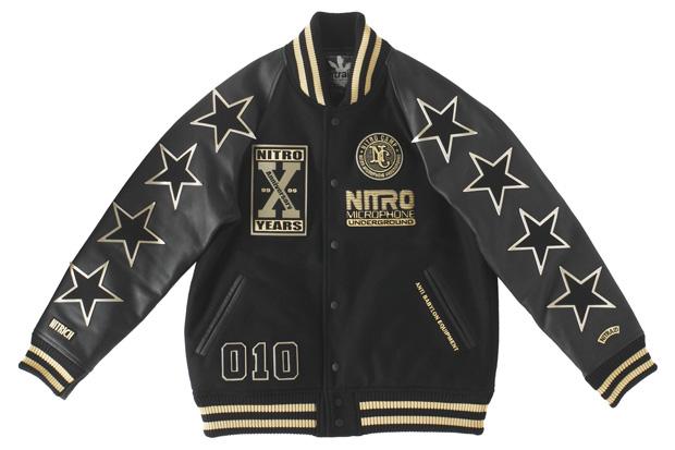 Nitro Microphone Underground x nitraid 10th Anniversary Collection Varsity Jacket / New Era 59FIFTY