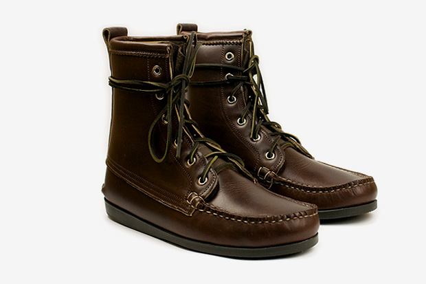 Quoddy Brown Leather Deck Boots