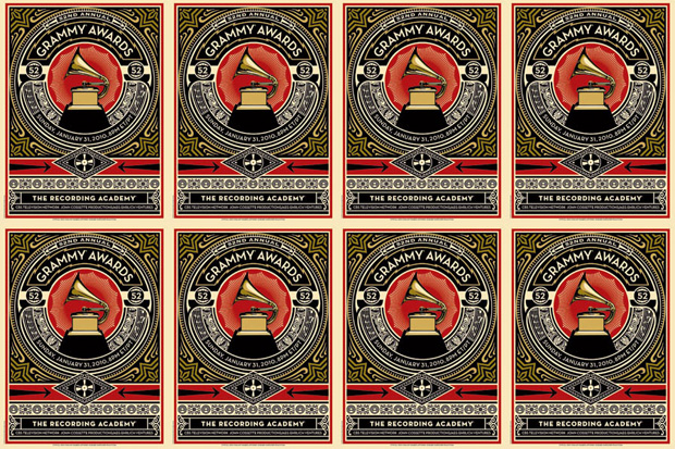 Shepard Fairey for 52nd Annual GRAMMY Awards