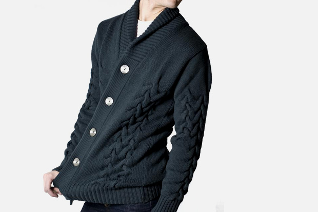 S.N.S. Herning Metal Gray Fold Cardigan