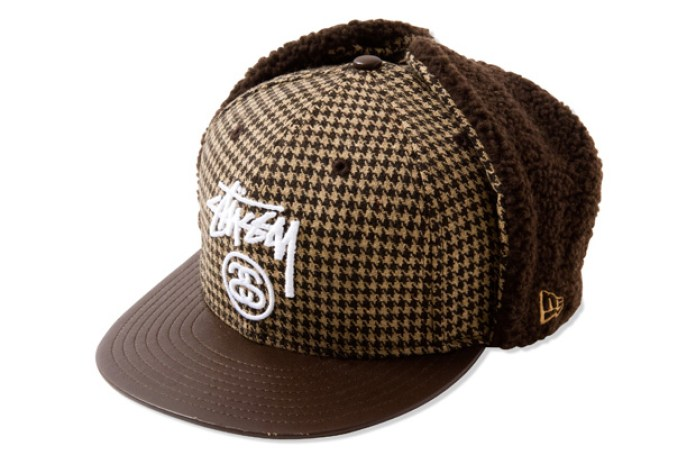 Stussy New Era Houndstooth Dog Ear 59FIFTY Fitted Cap