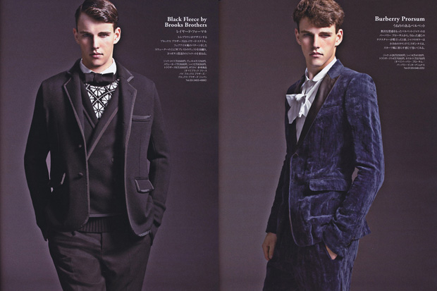 "ENGINE Magazine 2010 January ""Today's Formal Wear"" Editorial"