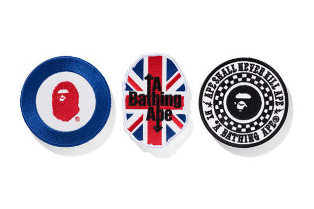 "A Bathing Ape ""MODS"" Collection Patch Set"