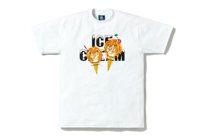 Ice Cream Tiger-Cone Tee