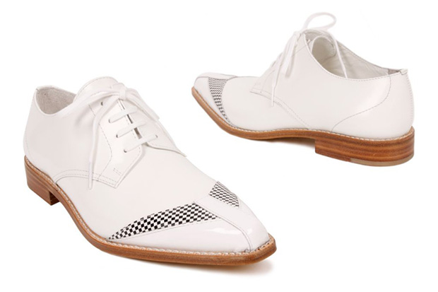 Junya Watanabe Checkered Leather Shoes
