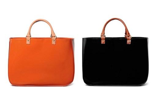 kolor x Yoshida Leather Tote Bags