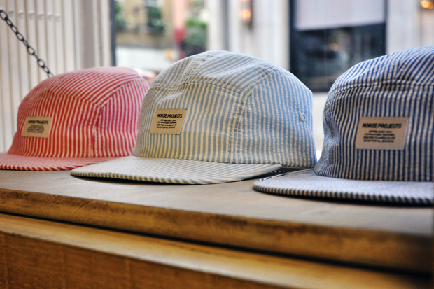 Norse Projects Seersucker 5 Panel Cap