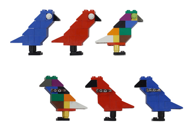 "ROC STAR x Dee & Ricky ""Bird of Paradise"" LEGO Brooch"