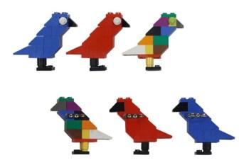 "ROC STAR x Dee & Ricky ""Bird of Paradise"" LEGO Brooch"