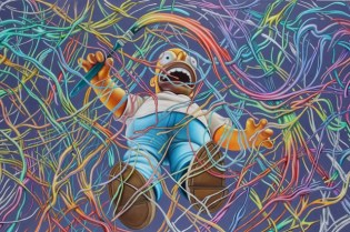 Ron English x The Simpsons 20th Anniversary Episode