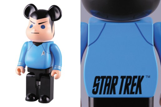 "Star Trek x Medicom Toy ""Spock"" 400% & 1000% Bearbricks"