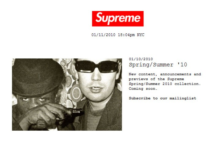Supreme 2010 Spring/Summer Announcement